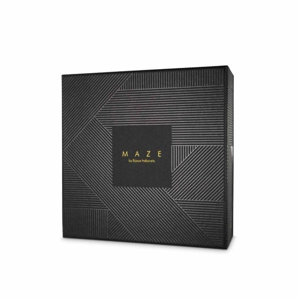 БДСМ аксессуары - Широкий пояс с наручниками цвет: черный, MAZE (Испания)  4