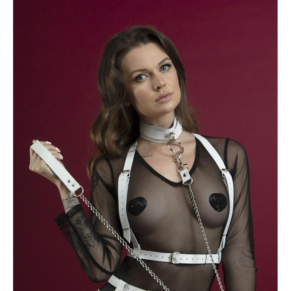 Одежда для БДСМ - Портупея Feral Fillings - Harness Top белая