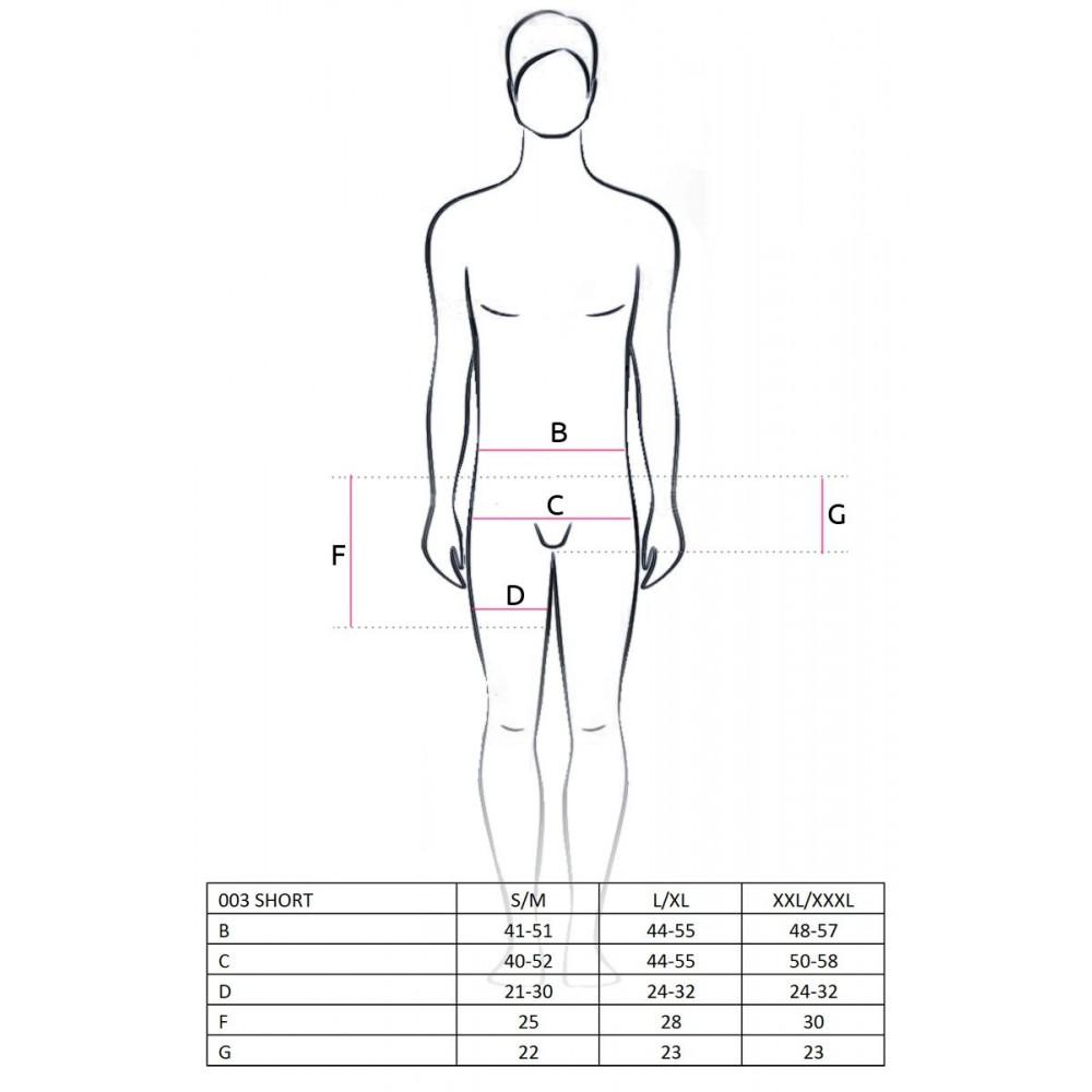 Стринги, трусы и шорты - 003 SHORT black L/XL - Passion 1