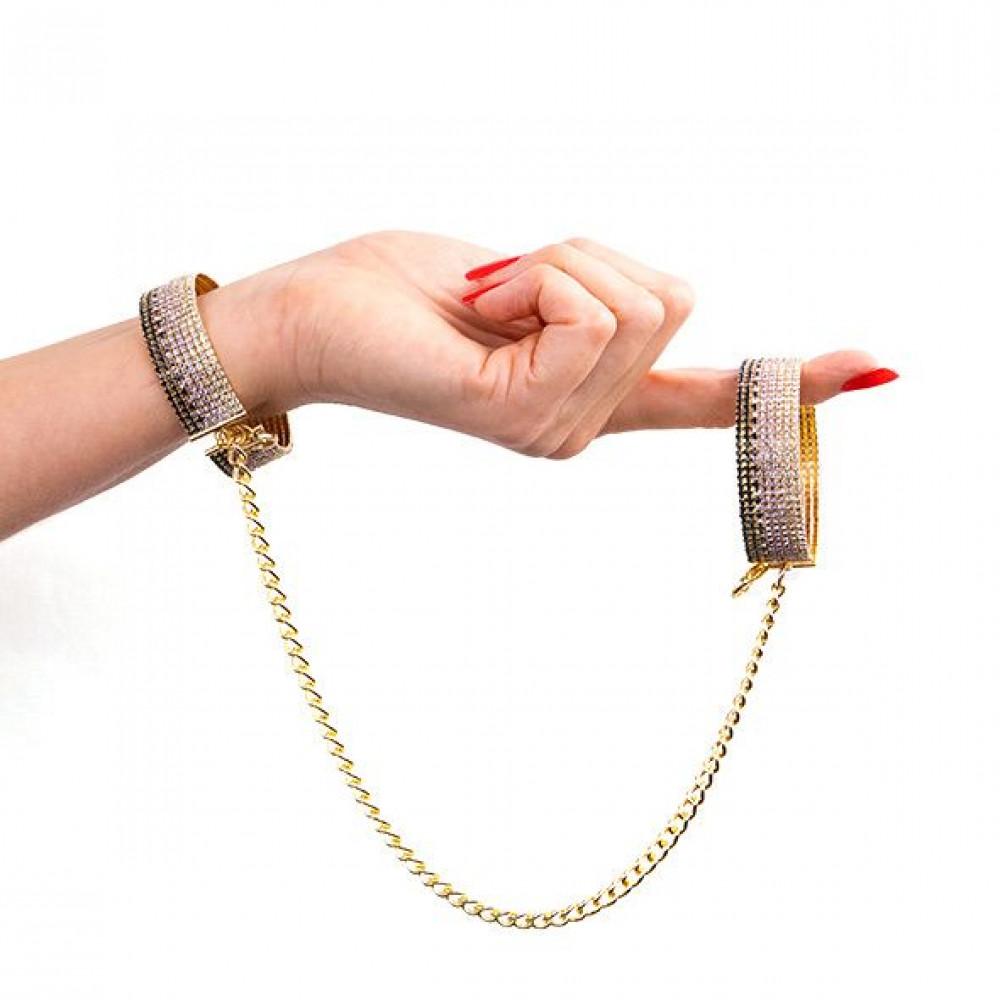 БДСМ наручники - Лакшери наручники-браслеты с кристаллами Rianne S: Diamond Cuffs, подарочная упаковка 5