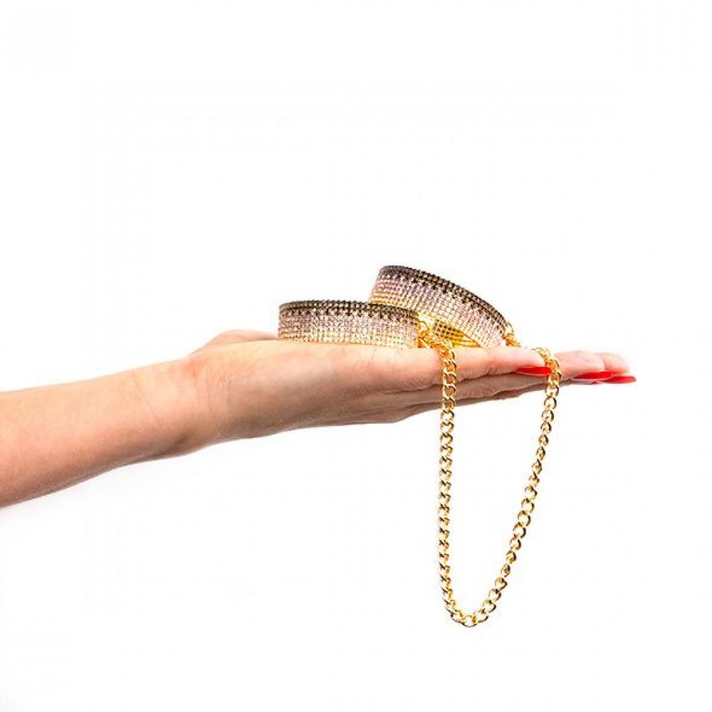 БДСМ наручники - Лакшери наручники-браслеты с кристаллами Rianne S: Diamond Cuffs, подарочная упаковка 2