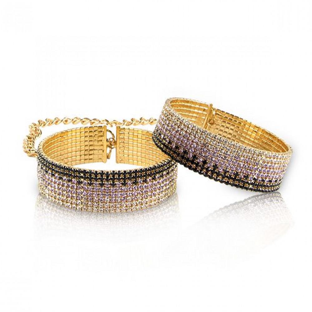 БДСМ наручники - Лакшери наручники-браслеты с кристаллами Rianne S: Diamond Cuffs, подарочная упаковка 1