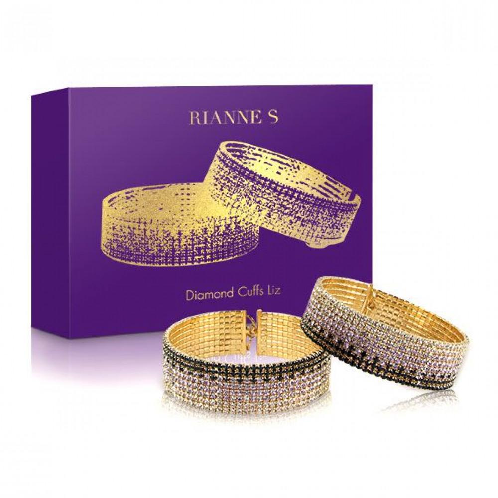 БДСМ наручники - Лакшери наручники-браслеты с кристаллами Rianne S: Diamond Cuffs, подарочная упаковка