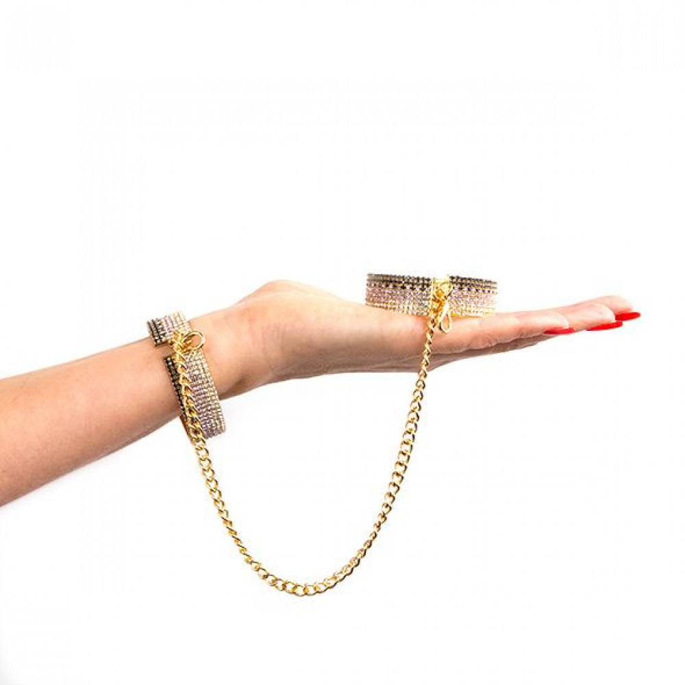 БДСМ наручники - Лакшери наручники-браслеты с кристаллами Rianne S: Diamond Cuffs, подарочная упаковка 3