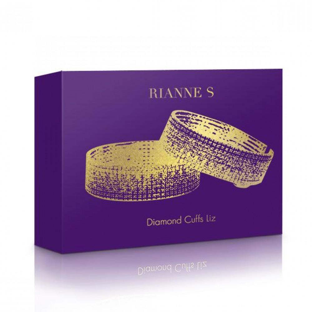 БДСМ наручники - Лакшери наручники-браслеты с кристаллами Rianne S: Diamond Cuffs, подарочная упаковка 6