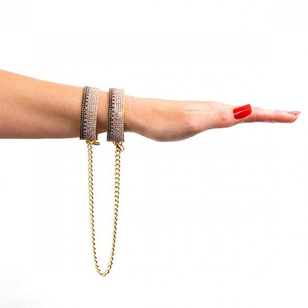 БДСМ наручники - Лакшери наручники-браслеты с кристаллами Rianne S: Diamond Cuffs, подарочная упаковка 4