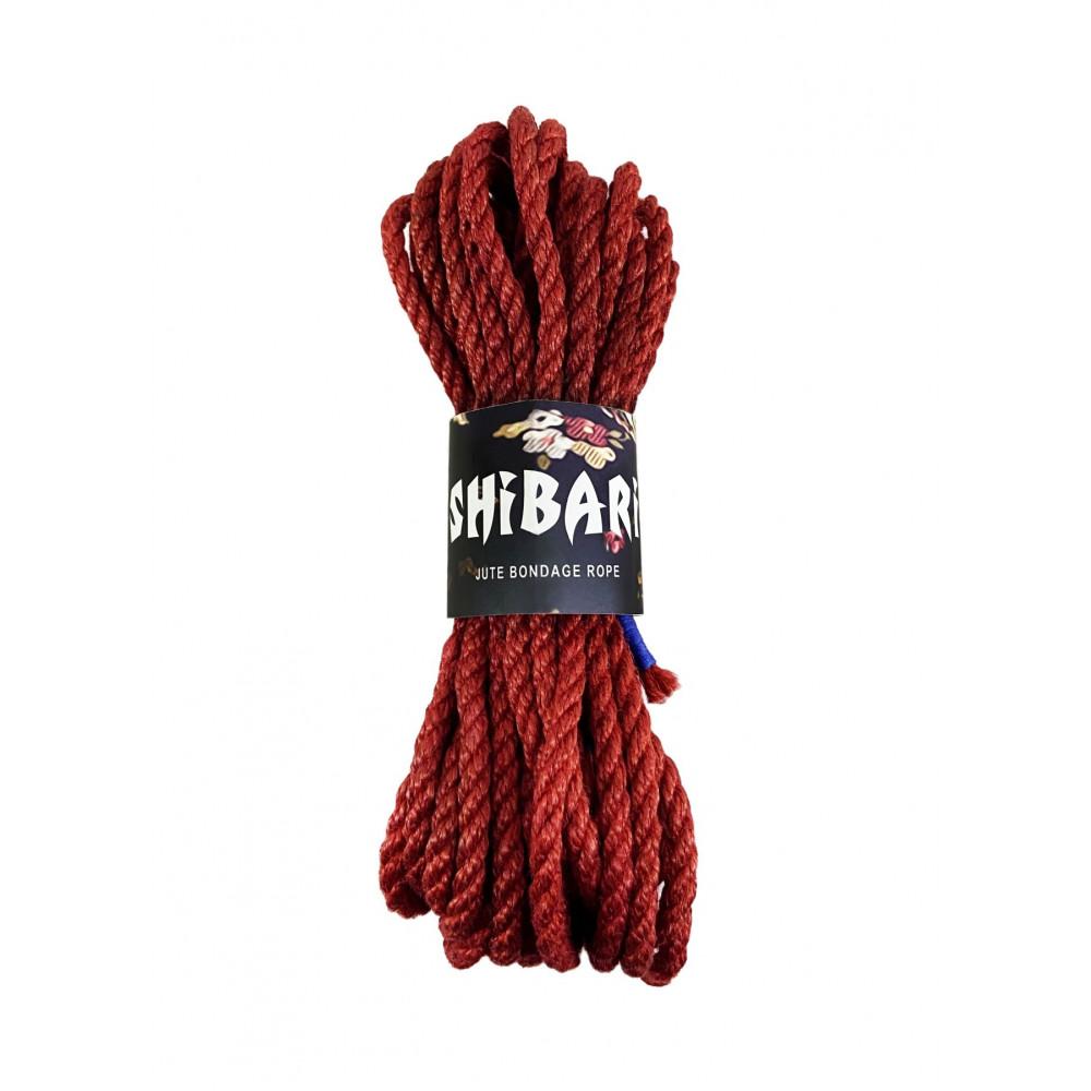 БДСМ наручники - Джутовая веревка для Шибари Feral Feelings Shibari Rope, 8 м красная