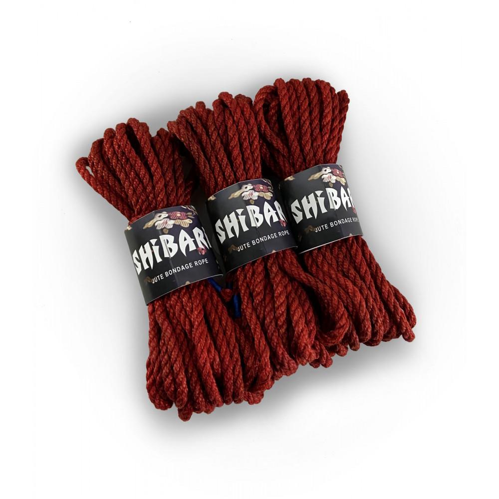БДСМ наручники - Джутовая веревка для Шибари Feral Feelings Shibari Rope, 8 м красная 1