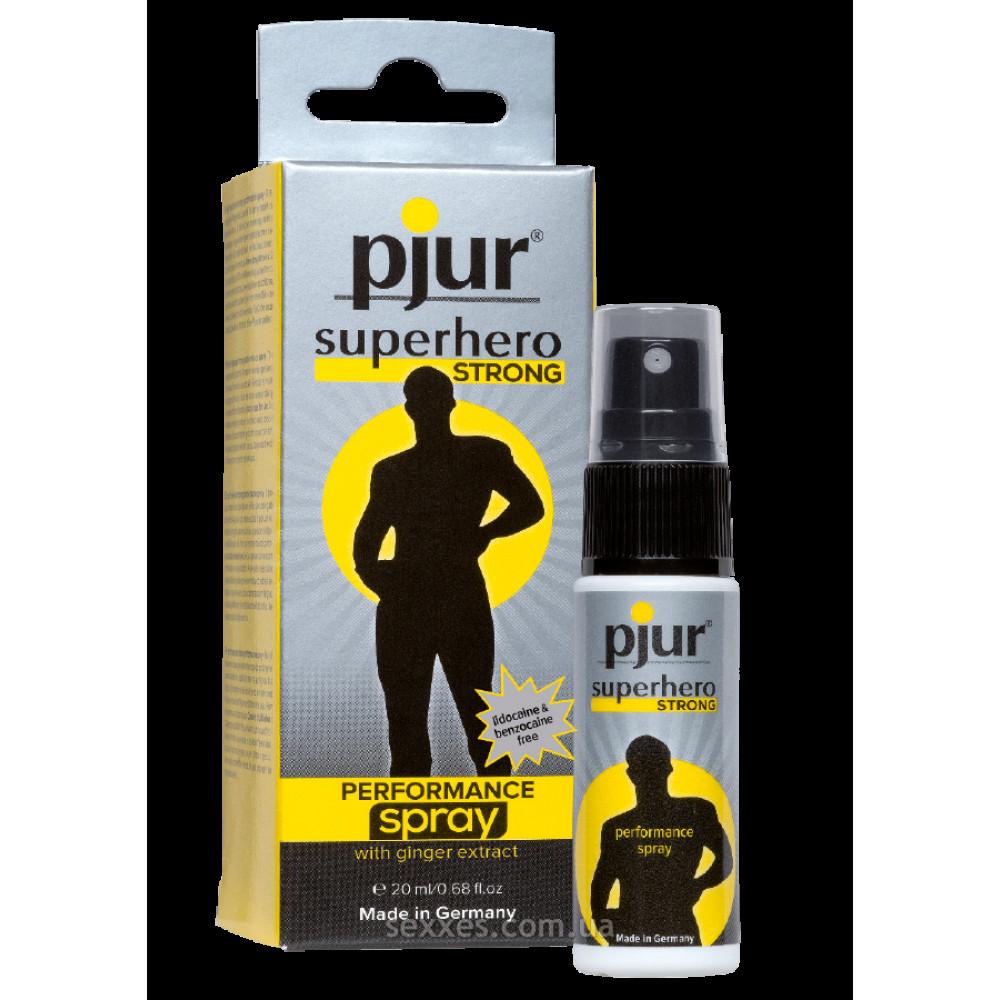 Мужские возбудители - Пролонгирующий спрей для мужчин pjur Superhero Strong Spray 20 ml