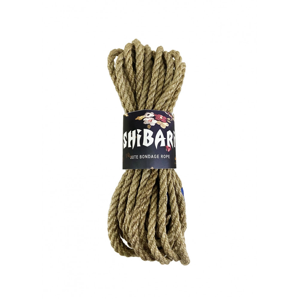 БДСМ наручники - Джутовая веревка для Шибари Feral Feelings Shibari Rope, 8 м серая