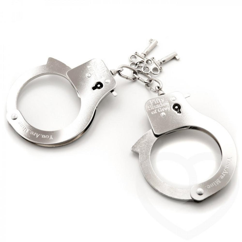 БДСМ наручники - Металлические наручники для секса ТЫ. МОЯ., Fifty Shades of Grey
