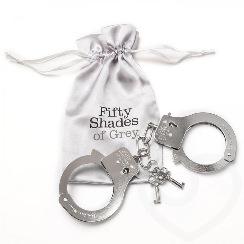БДСМ наручники - Металлические наручники для секса ТЫ. МОЯ., Fifty Shades of Grey 3