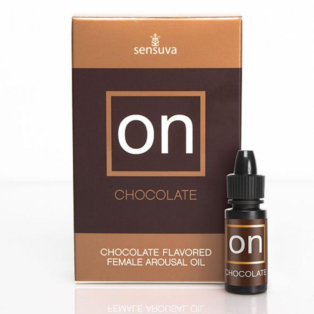 Жидкий вибратор - Возбуждающе масло Sensuva - ON Arousal Oil for Her Chocolate (5 мл)