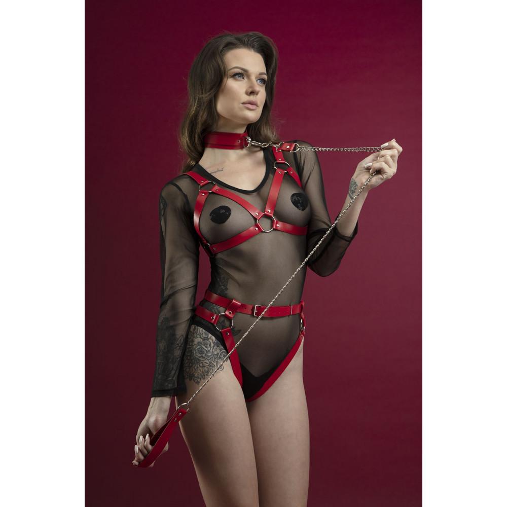 Одежда для БДСМ - Гартеры Feral Fillings - Belt Briefs красные