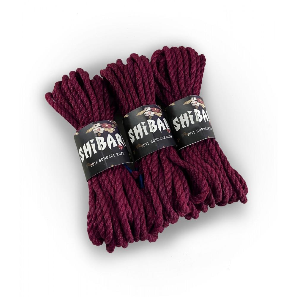 БДСМ наручники - Джутовая веревка для Шибари Feral Feelings Shibari Rope, 8 м фиолетовая 1