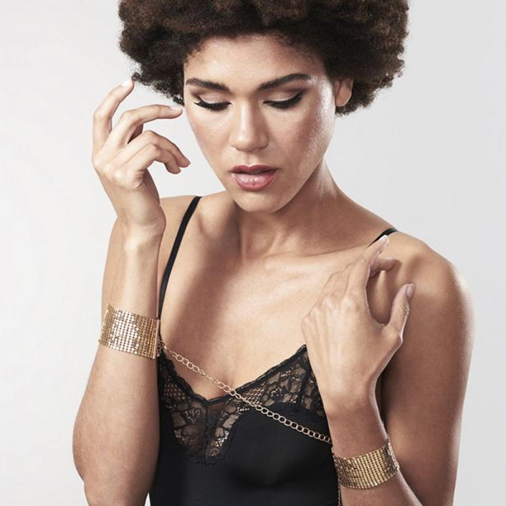 БДСМ наручники - Наручники Bijoux Indiscrets Desir Metallique Handcuffs - Gold 6
