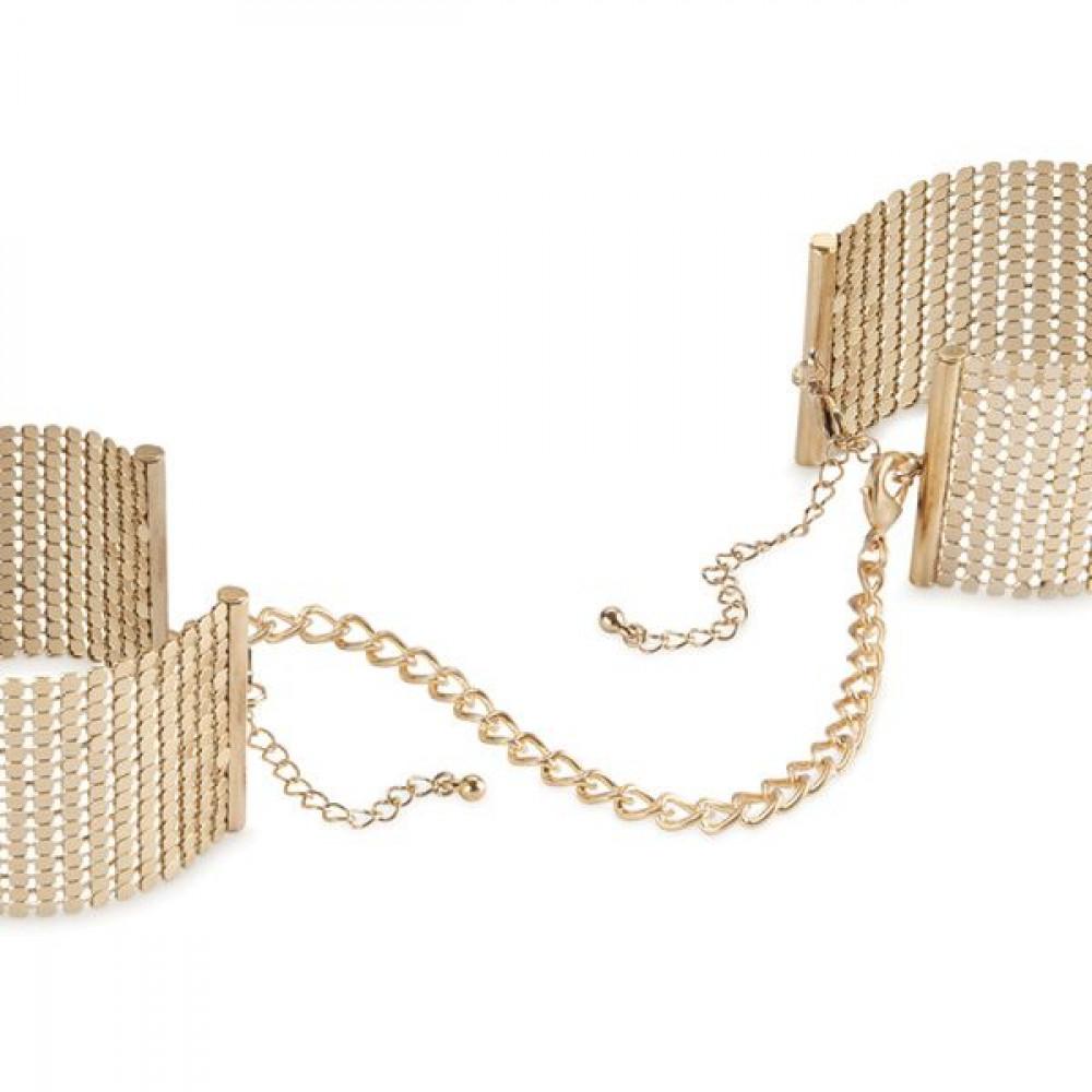 БДСМ наручники - Наручники Bijoux Indiscrets Desir Metallique Handcuffs - Gold 1