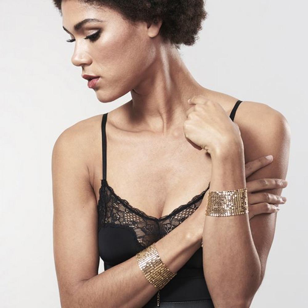 БДСМ наручники - Наручники Bijoux Indiscrets Desir Metallique Handcuffs - Gold 7