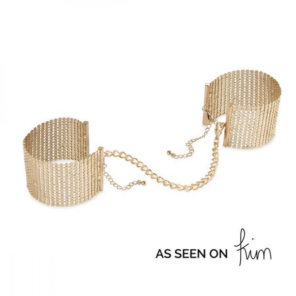 БДСМ наручники - Наручники Bijoux Indiscrets Desir Metallique Handcuffs - Gold
