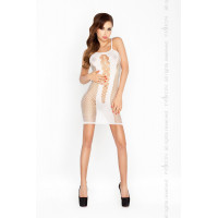 Бодистокинг платье-сетка, белый