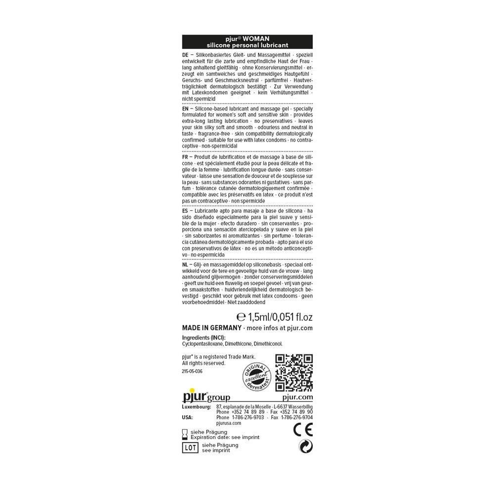 Смазки на силиконовой основе - Пробник pjur Woman 1,5 ml 1
