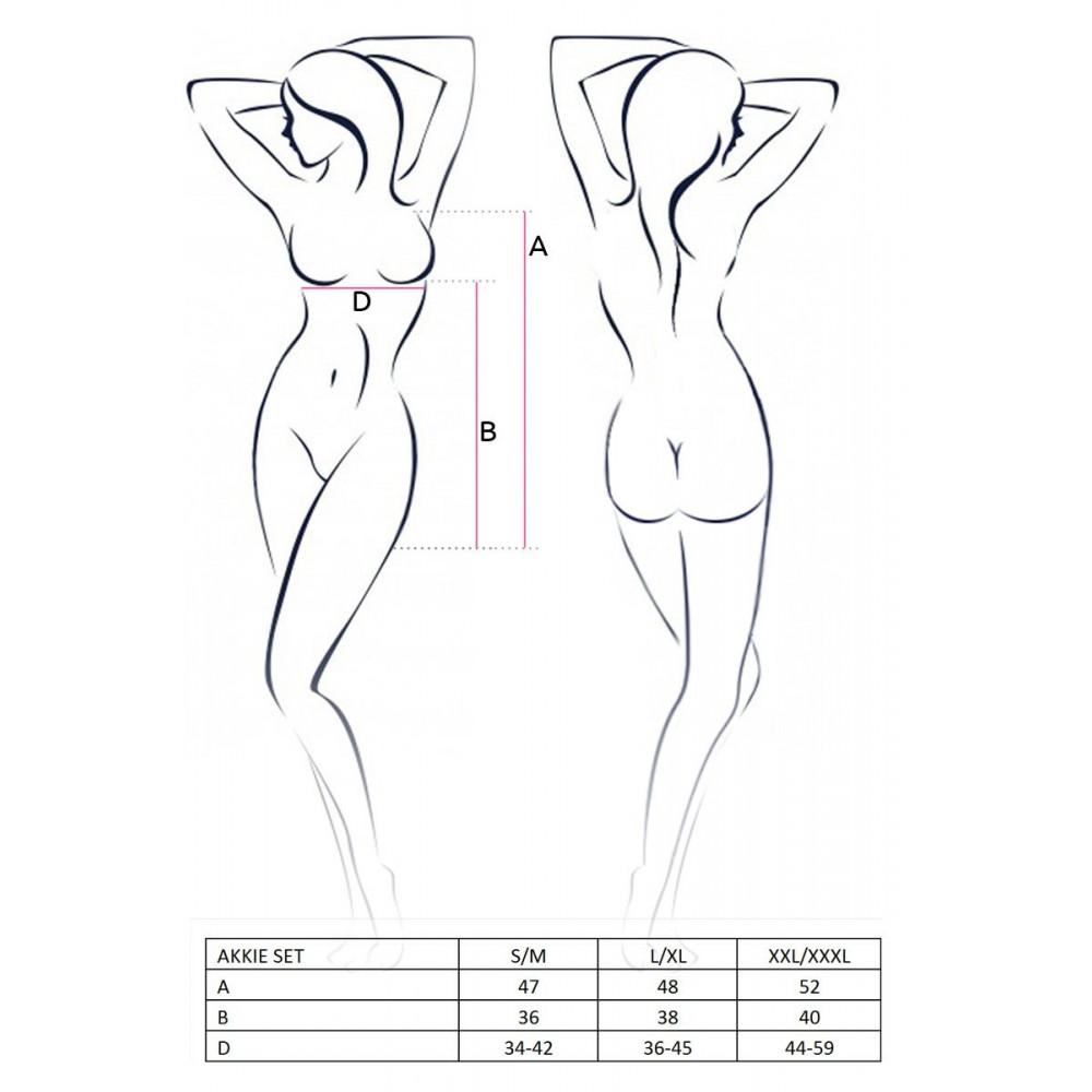 Эротические костюмы - AKKIE SET white L/XL - Passion 1