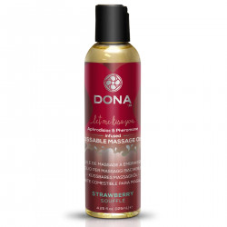 Массажное масло DONA Kissable Massage Oil Strawberry Souffle (110 мл)