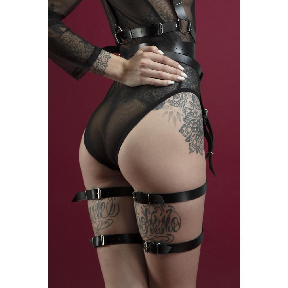 Одежда для БДСМ - Гартеры Feral Fillings - Garter черные 1