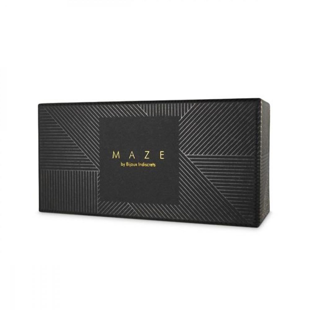 БДСМ наручники - Наручники Bijoux Indiscrets MAZE - Wide Cuffs Brown 3