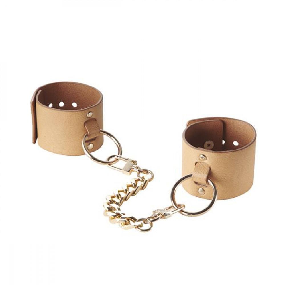БДСМ наручники - Наручники Bijoux Indiscrets MAZE - Wide Cuffs Brown