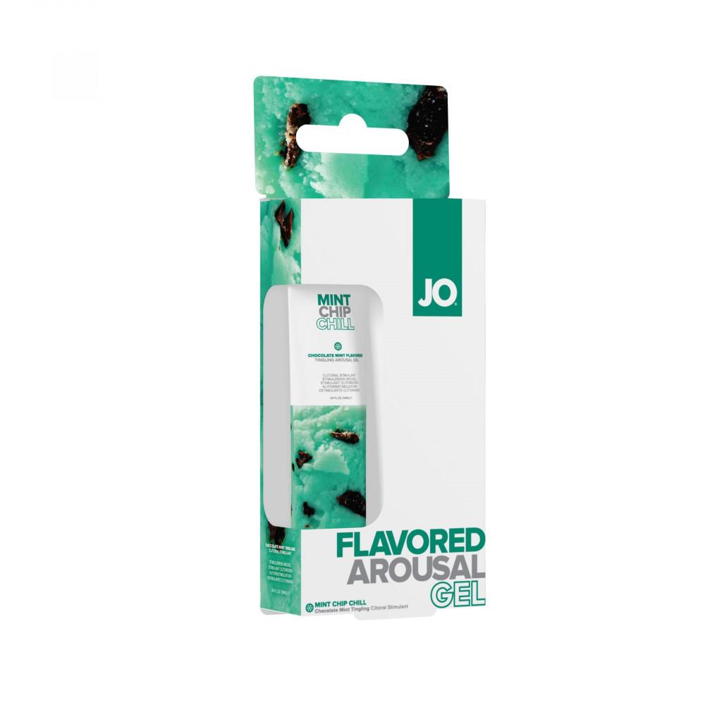 Жидкий вибратор - Гель для клитора System JO Stimulant Mint Chip Chill (мятное мороженное) 2