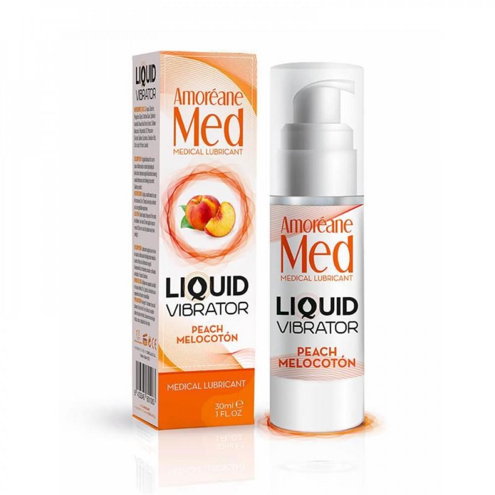 Жидкий вибратор - Лубрикант с эффектом вибрации Amoreane Med Liquid Vibrator Peach (30 мл)