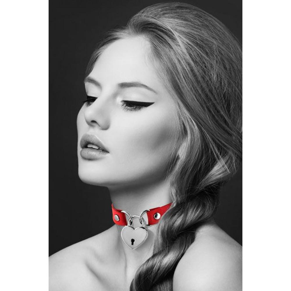 Чокер - Чокер Bijoux Pour Toi - HEART LOCK Red