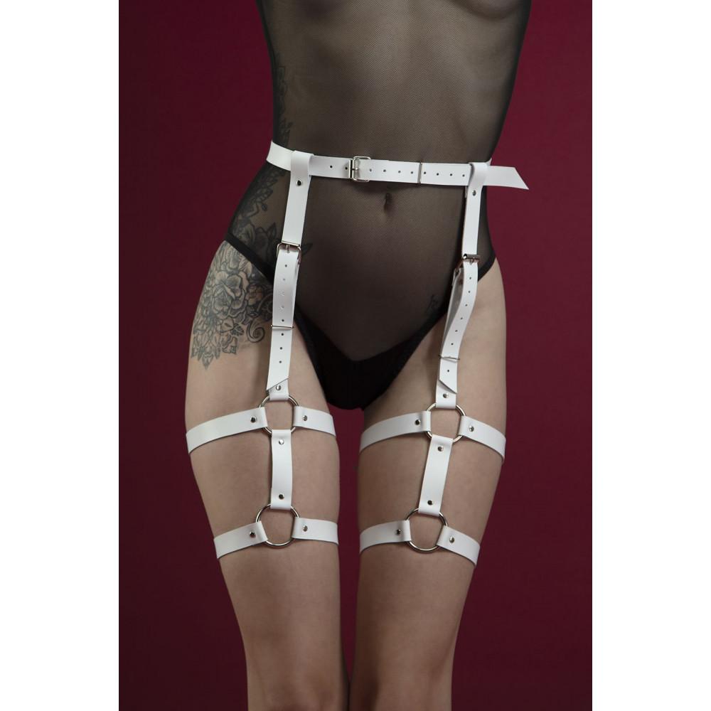 Одежда для БДСМ - Гартеры Feral Fillings - Garter белые