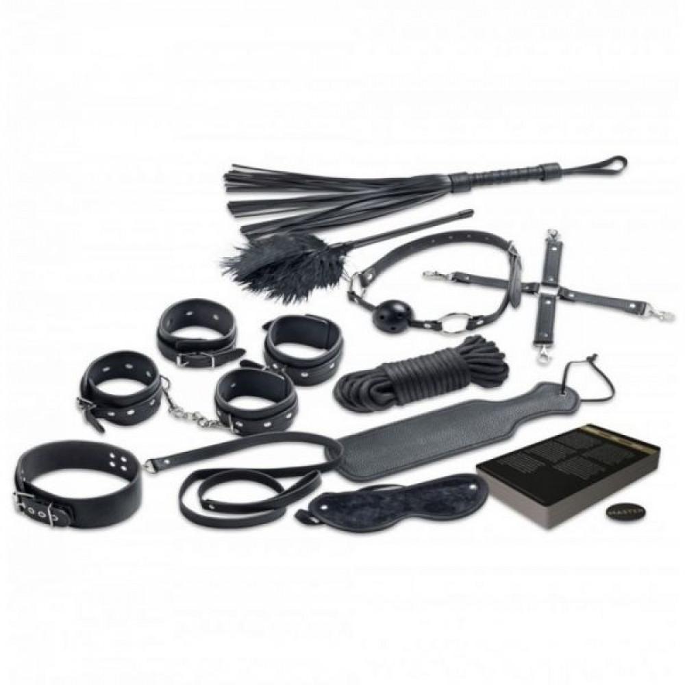 Наборы для БДСМ - Набор БДСМ 10 предметов Master & Slave, Black 2