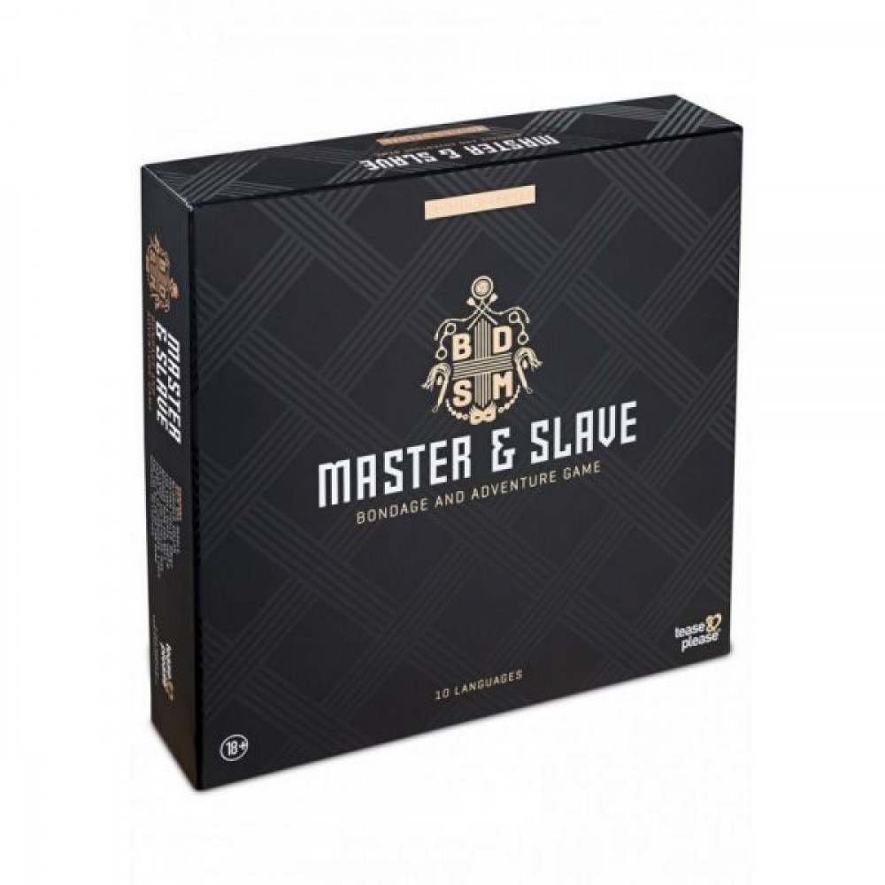 Наборы для БДСМ - Набор БДСМ 10 предметов Master & Slave, Black 1