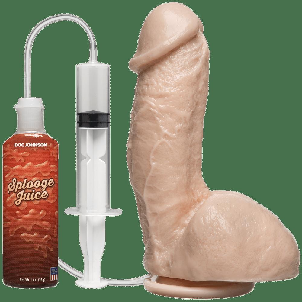 Фаллоимитаторы на присоске, двойные - Кончающий фаллоимитатор Doc Johnson The Amazing Squirting Realistic Cock