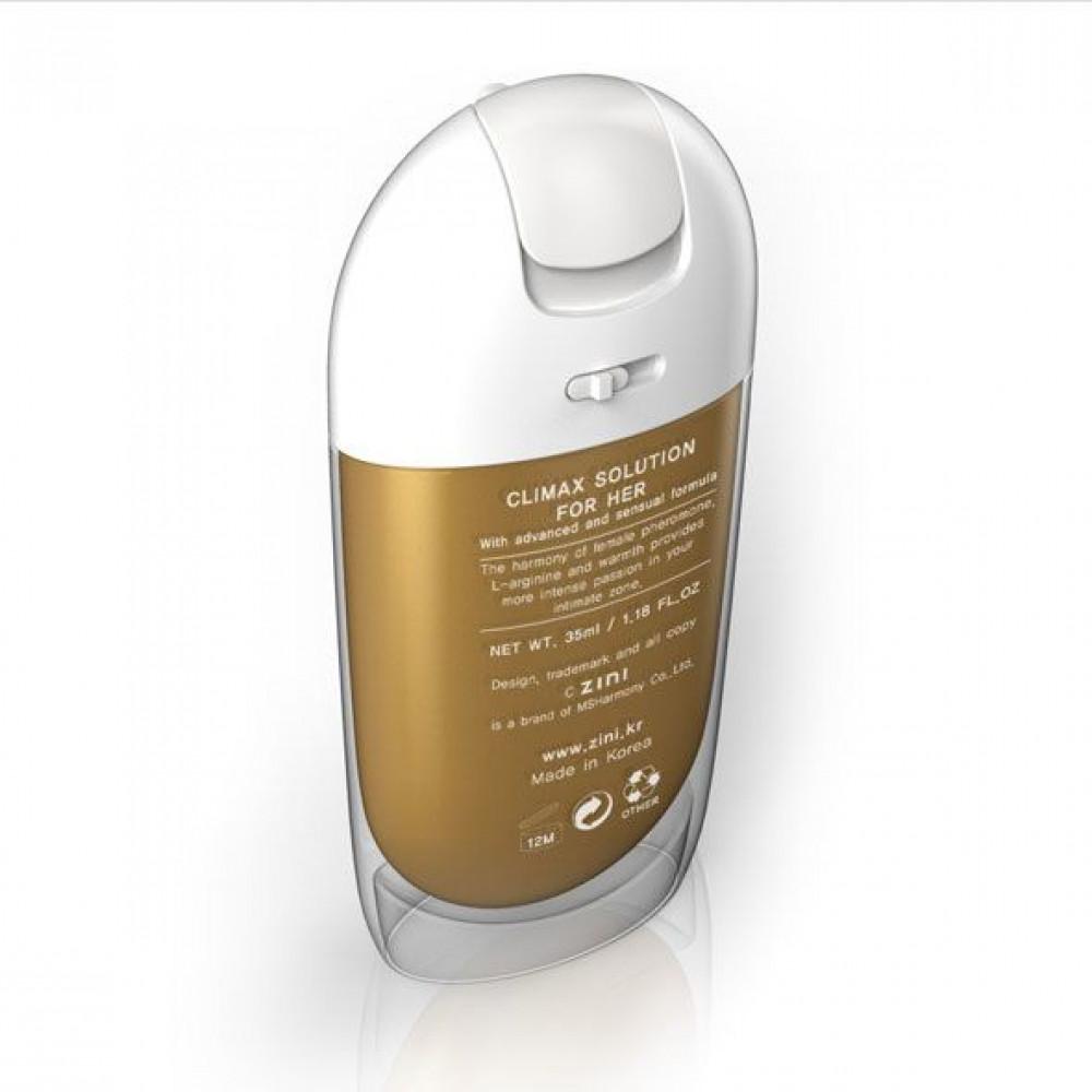Жидкий вибратор - Возбуждающий крем для нее Zini Solution - Climax For Her (35 мл) 1