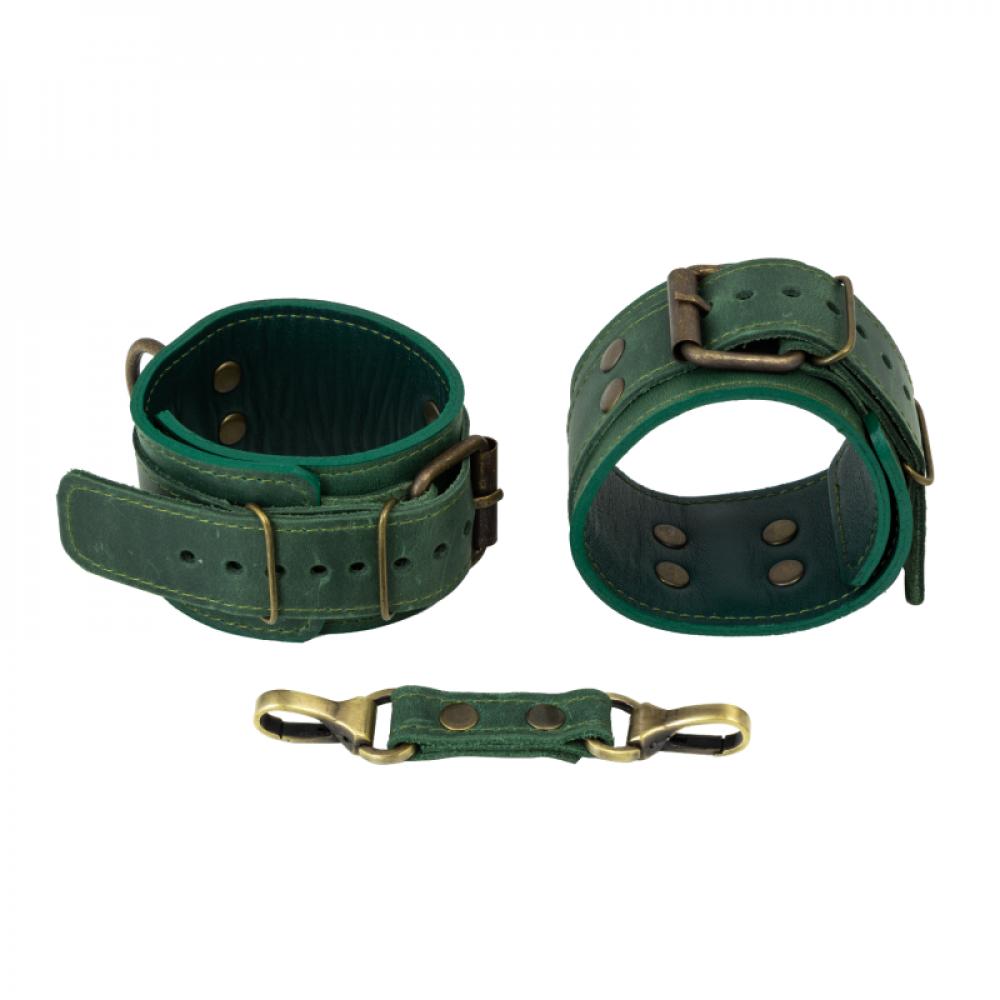 БДСМ наручники - Поножи LOVECRAFT зеленые 1