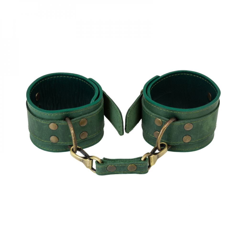 БДСМ наручники - Поножи LOVECRAFT зеленые