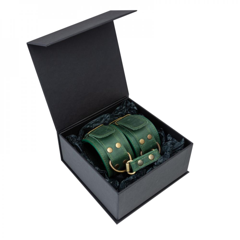 БДСМ наручники - Поножи LOVECRAFT зеленые 2