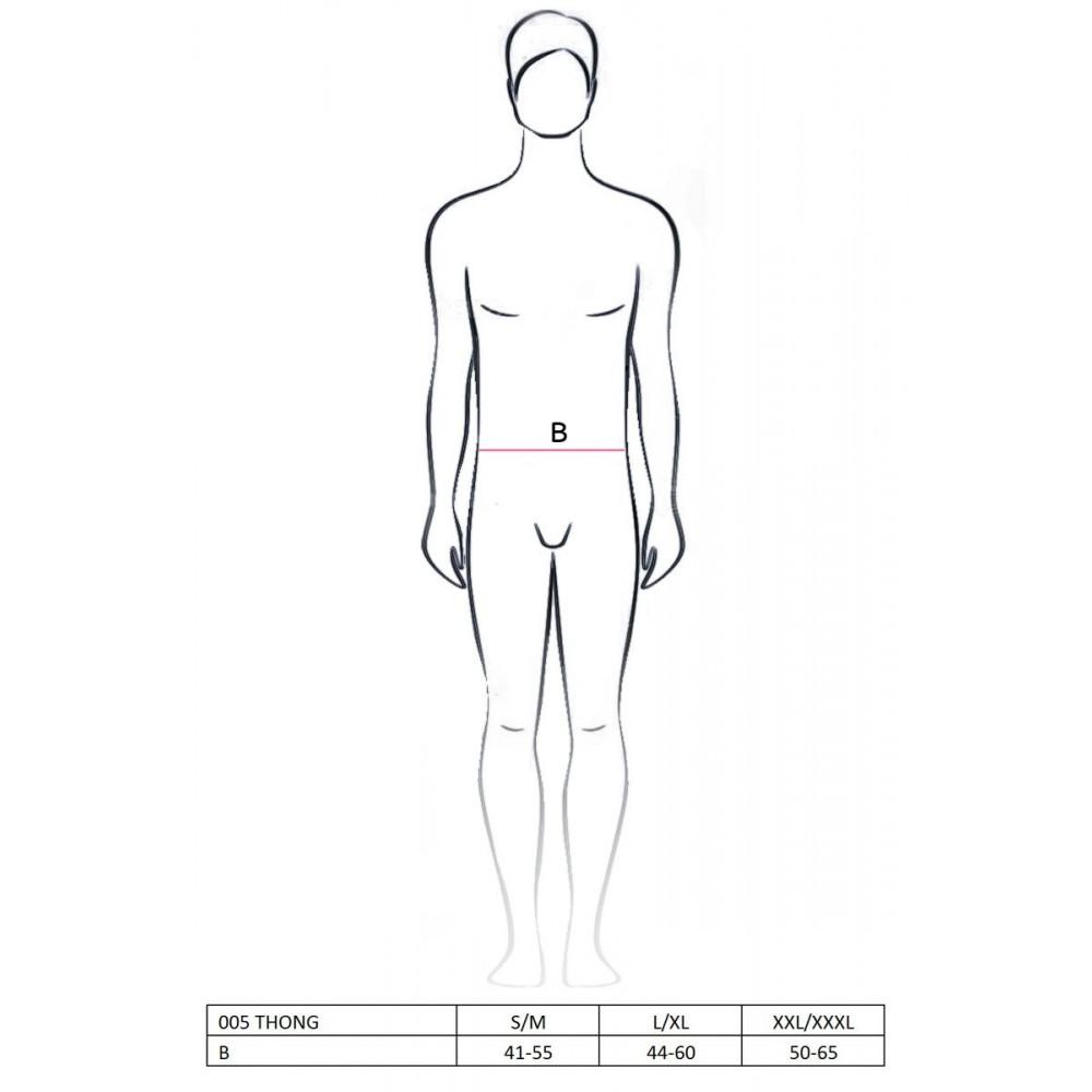 Стринги, трусы и шорты - 005 THONG black L/XL - Passion 2