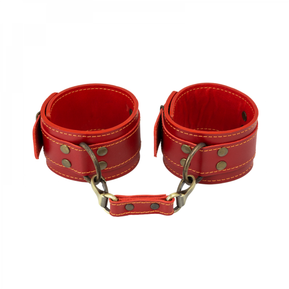 БДСМ наручники - Поножи LOVECRAFT красные