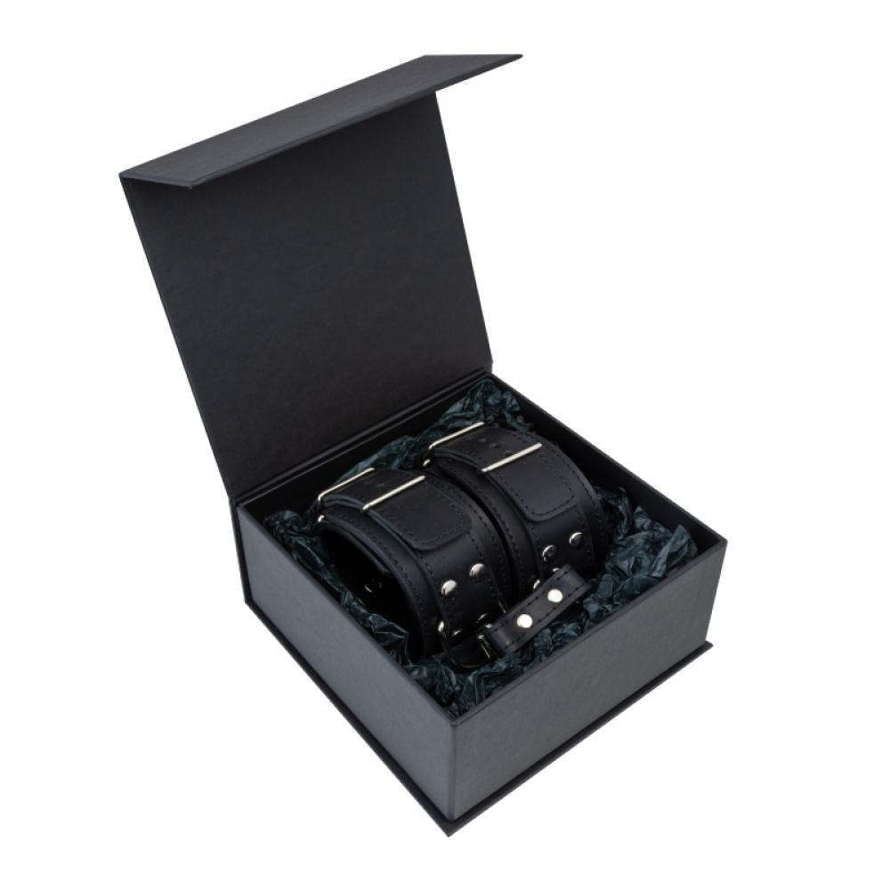 БДСМ наручники - Поножи LOVECRAFT черные 2