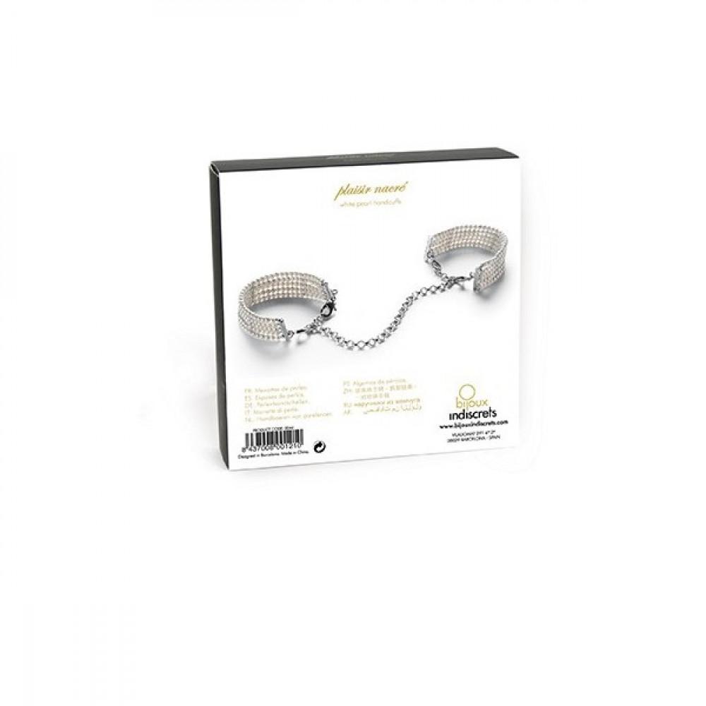 БДСМ наручники - Браслеты - наручники PLASIR NACRE белый жемчуг, Bijoux Indiscrets 3