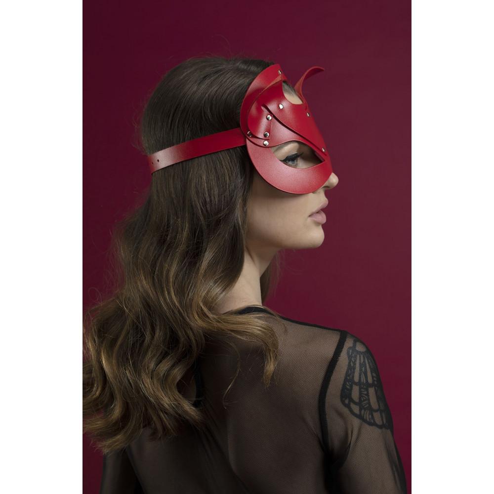 Маска для БДСМ - Маска кошки Feral Fillings - Catwoman Mask красная 1