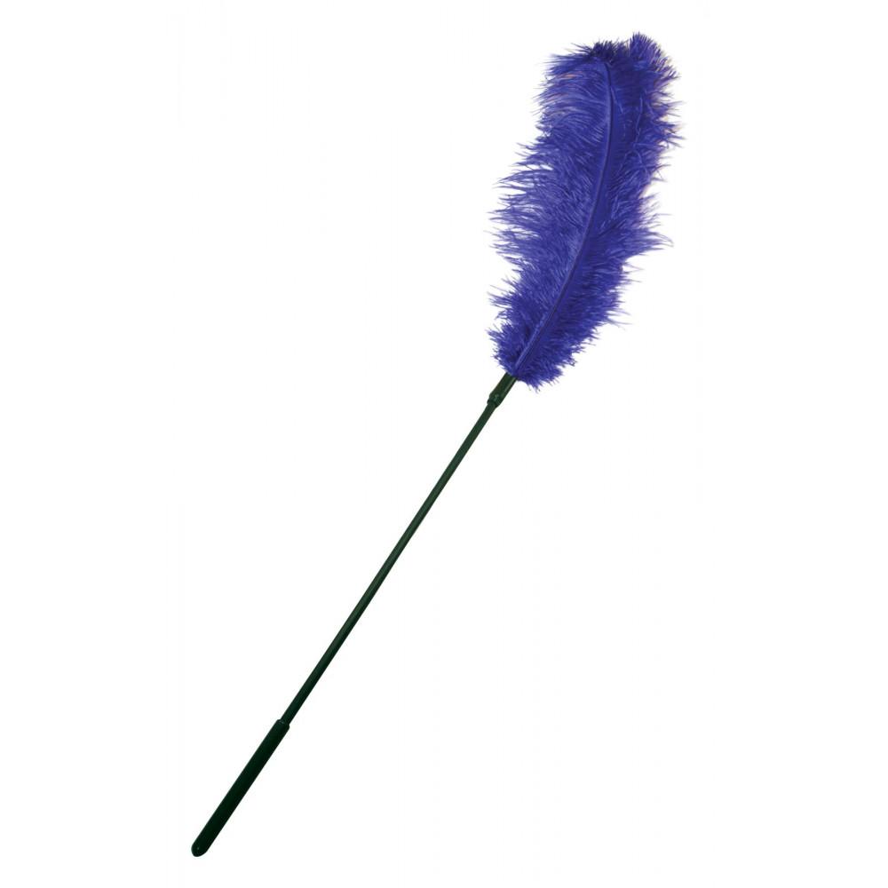 БДСМ плети, шлепалки, метелочки - Щекоталка с пером страуса Sportsheets Ostrich Tickler Фиолетовая