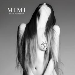 Украшение для груди MIMI со стразами  - Белый Жемчуг