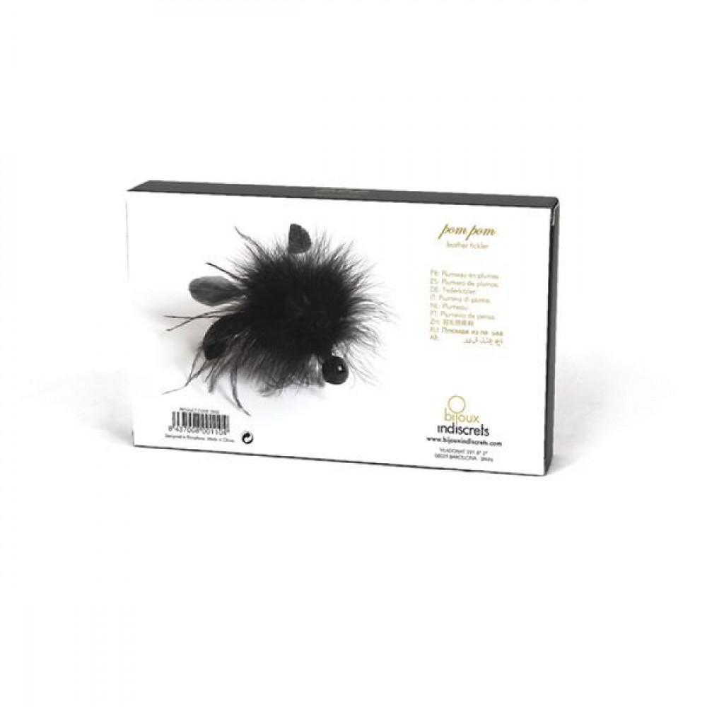 БДСМ плети, шлепалки, метелочки - Метелочка Bijoux Indiscrets Pom Pom - feather tickler 4