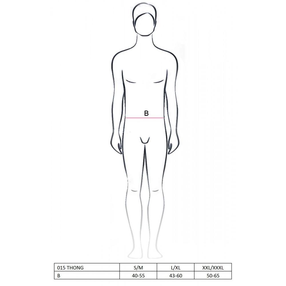 Стринги, трусы и шорты - 015 THONG silver L/XL - Passion 2